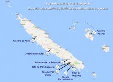 Carte des sites de la DAVAR