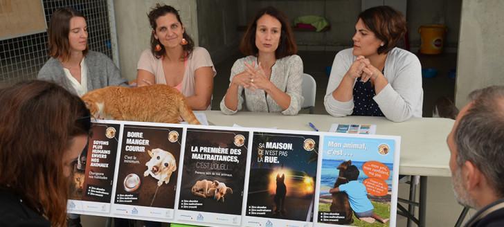 Isabelle Champmoreau était entourée des agents de la DAVAR et de la représentante de la province Sud, Naïa Wateou.