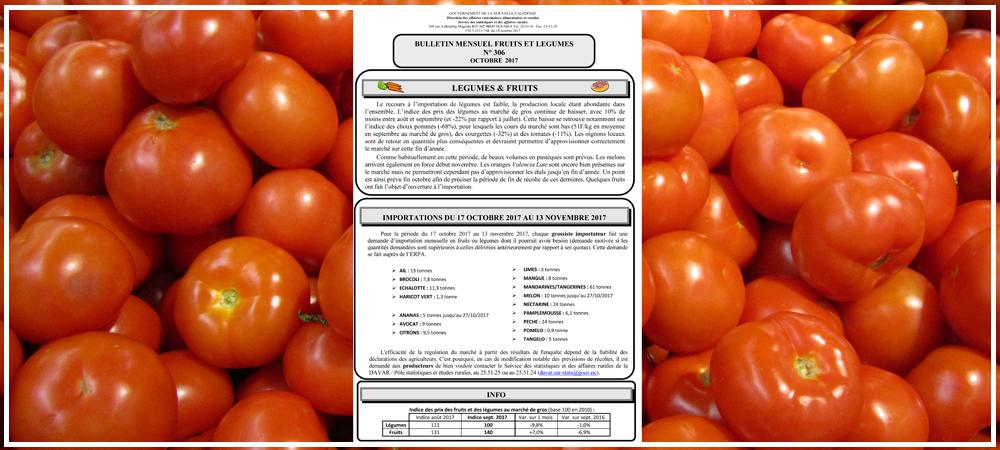 Bulletin Mensuel Fruits et Légumes